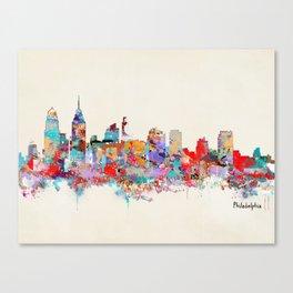 Philadelphia Pennsylvania skyline Canvas Print