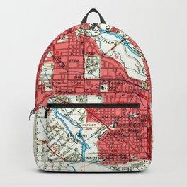 Vintage Map of Boise Idaho (1954) Backpack