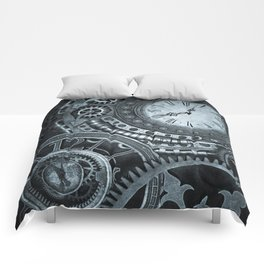 Silver Steampunk Clockwork Comforters