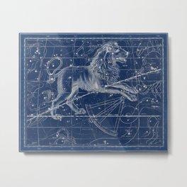 Leo sky star map Metal Print