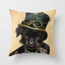 Sir Cornelius Kirby (steampunk) Throw Pillow