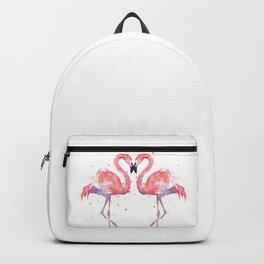 Pink Flamingo Love Two Flamingos Backpack