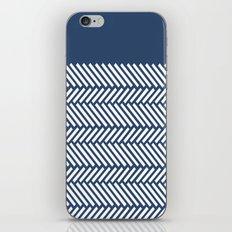 Herringbone Boarder Navy iPhone & iPod Skin