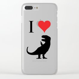 I Love Dinosaurs - T-Rex Clear iPhone Case
