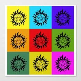 Supernatural Color Block Canvas Print