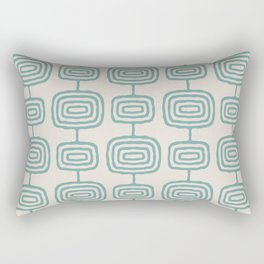 Mid Century Modern Atomic Rings Pattern Foam Green and beige 3 Rectangular Pillow