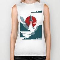 is the new black Biker Tanks featuring The Voyage by Danny Haas