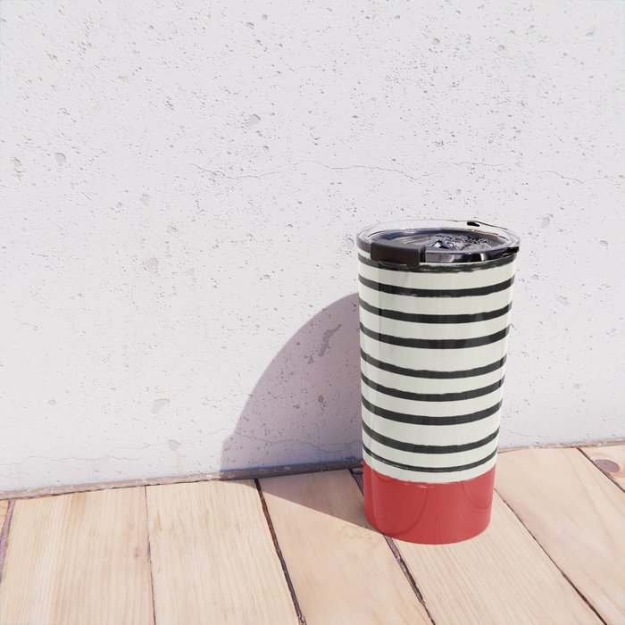 Red Chili x Stripes Travel Mug