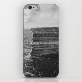 Dun Briste II Black and White iPhone Skin