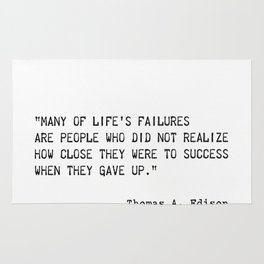 Thomas A. Edison quote Rug