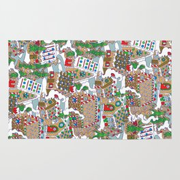 Gingerbread Village Rug