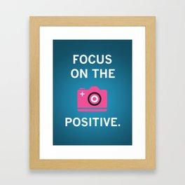 Focus Positive - Pink Framed Art Print