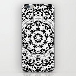 Shades Of Gray Mandala iPhone Skin