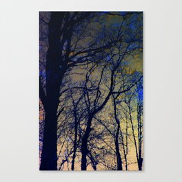 Black Tree Forest Canvas Print