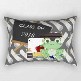 Graduations Diplomas And Frog Rectangular Pillow