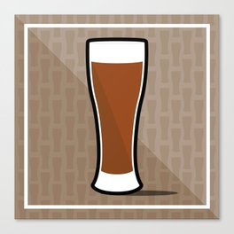 Iconic Beer Glass Canvas Print