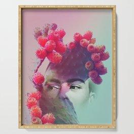Succulent Frida #buyart #surreal Serving Tray