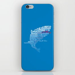 Shark in Different Languages iPhone Skin