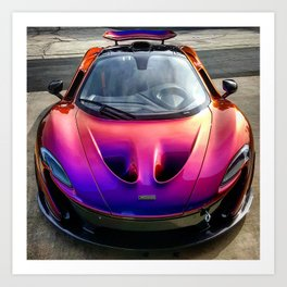 Blurple McLaren P1 Art Print