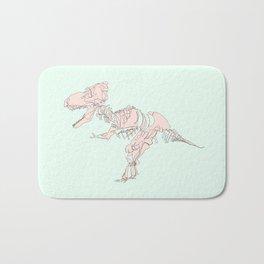 Pastel T rex Bath Mat
