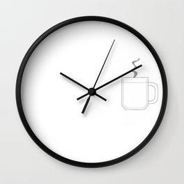 Pocket coffee Wall Clock
