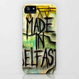 Made in Belfast oil pastel iPhone Case