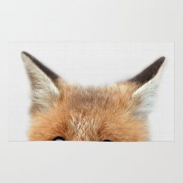 Fox print, Fox wall art, Nursery decor, Animal art, Baby animal prints Rug