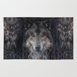 The Winter is here - Wolf Dreamcatcher Rug