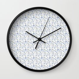 Ditsy  Hydrangeas Wall Clock