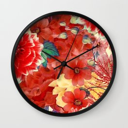 flowers 29 #flora #flowers #pattern Wall Clock