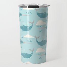 Narwhal blue Travel Mug
