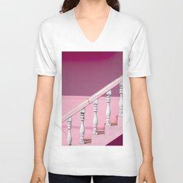 Pink Stairway Unisex V-Neck