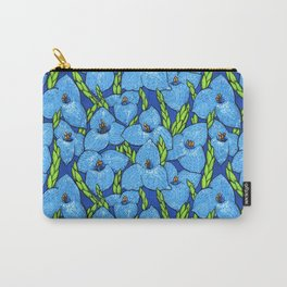 Blue Puya Flowers Botanical Floral Pattern Carry-All Pouch
