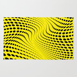 THE RIVER YELLOW-BLACK Rug