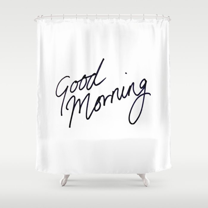 Good Morning! Shower Curtain by tamsinlucie | Society6