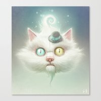 lady gaga Canvas Prints featuring Release the Odd Kitty!!! by Dctr. Lukas Brezak