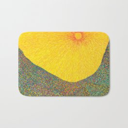 Here Comes the Sun - Van Gogh impressionist abstract Bath Mat