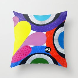 CRAZY COLORFUL Throw Pillow