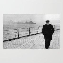Winston Churchill At Sea Rug