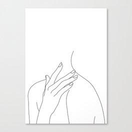 Female body line drawing - Danna Canvas Print