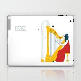 Woman harpist Laptop & iPad Skin