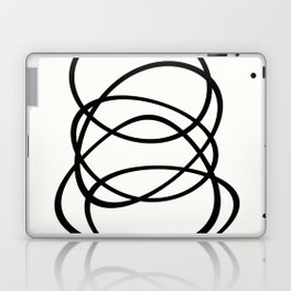 Come Together - Black and white, minimalistic, abstract, art print Laptop & iPad Skin