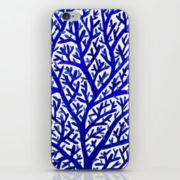 Fan Coral – Navy iPhone Skin