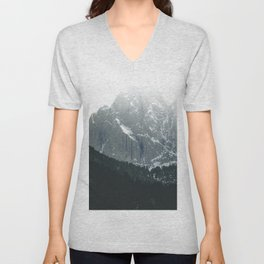 Scenic Mountains and Forest Unisex V-Neck