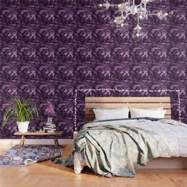 Abstract violet pattern Wallpaper