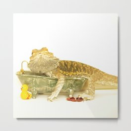 Bearded Dragon After... Metal Print