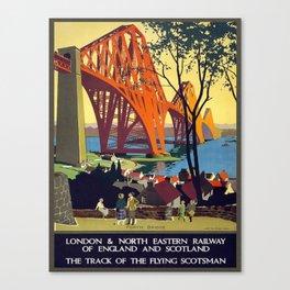 Vintage poster - Forth Bridge Canvas Print