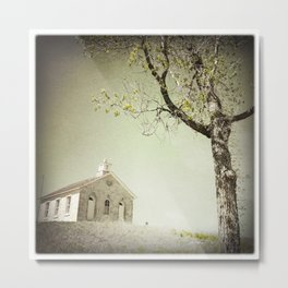 Lower Fox Creek Schoolhouse, Flint Hills, Kansas Metal Print