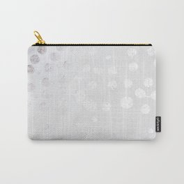 Silver and White Carry-All Pouch