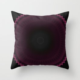 Dark Burgundy Dusk Mandala Throw Pillow